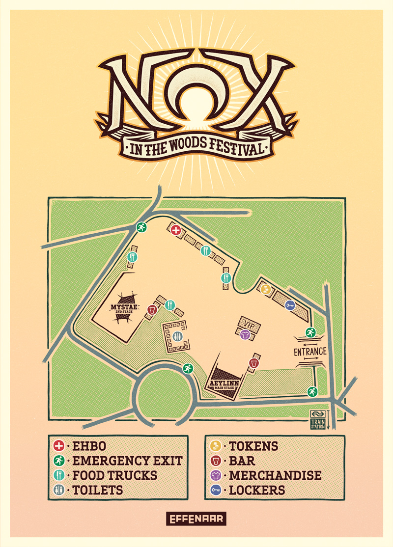 Map NOX in the Woods Festival